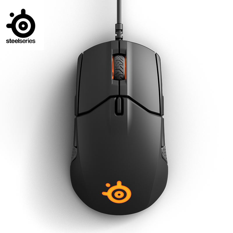 New origianl SteelSeries Sensei 310 optical wired gaming mouse DPI:12000 RGB breathing light FPS gaming to survive For LOL CF Mice     - title=