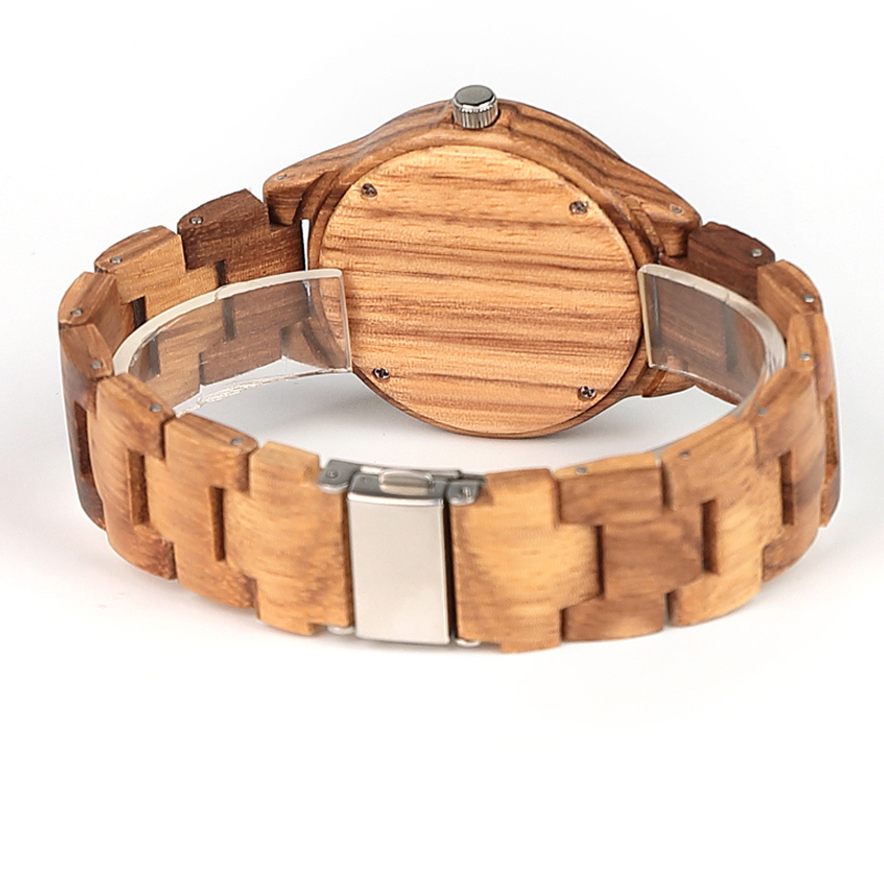 Image 4 - ELMERA wood watch women ladies watches women in Wristwatch Quartz Movement Wood Watch relogio femininoWomens Watches   -