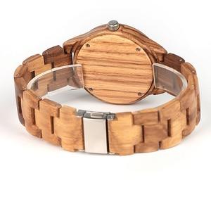 Image 4 - ELMERA wood watch women ladies watches women in Wristwatch Quartz Movement Wood Watch relogio feminino