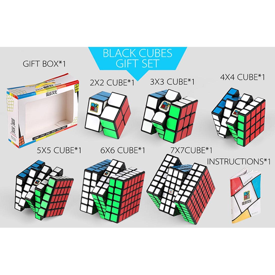 Mofangjiaoshi MFJS Paquet Ensemble Cadeau Cube Cubage Classe 2-7 Étapes Magie Cube Ensemble avec Emballage Boîte-Cadeau pour cerveau Jouets