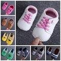 2016 Primeiro Walkers tamanho 11,12, 13 cm Sapatos da criança Do Bebê prewalker sola macia, meninos do bebê bebe sapatos antiderrapantes R1164