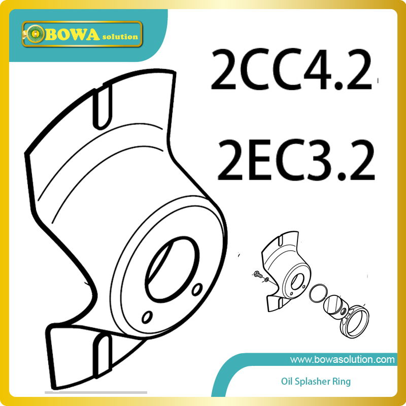 S4 Oil Splasher ring for 2CC4.2 and 2EC3.2 octagon compressor compatible with Bitzer compressor spare parts