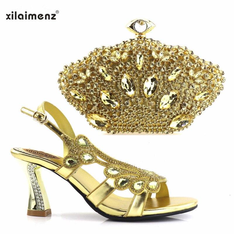 Italiennes Avec Assortis purple Nouveau Femmes Boutique Fixe gold Les Blue Pompes red 2018 Nouvelle Parti Pourpre Chaussures Strass Sacs Royal Décoré Discount 40 OxqaP