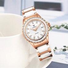 Relojes Mujer 2017 CADISEN top brand fashion ladies watch ceramic bracelet quartz