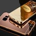Nueva Original de calidad superior ultrafino del metal caja del espejo para Samsung GALAXY S6 Edge / S6 G9200 G9250 teléfono de lujo cubren