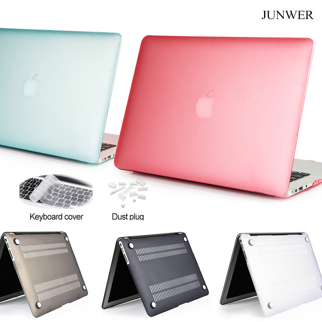 new styles 456fe 52fa0 US $6.79 32% OFF|JUNWER 2017 Matte Hard Cover For Apple Macbook Air Pro  Retina 11 12 13.3 15 inch Touch Bar For Macbook pro 13 Case Laptop Case-in  ...