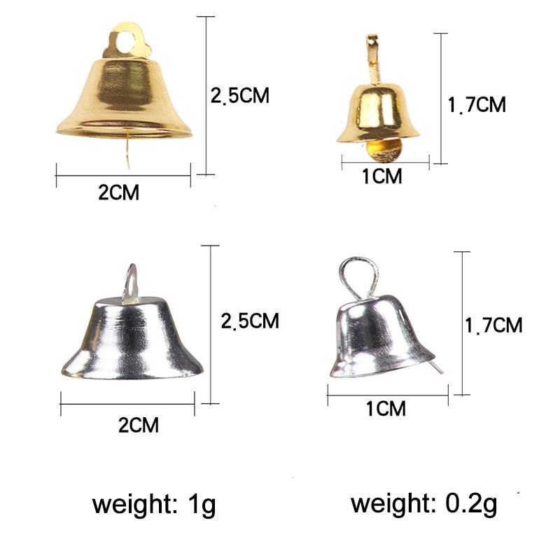 5000 шт. маленькие колокольчики для рукоделия, мини колокольчики, Золотые Серебряные подвесные металлические колокольчики, Свадебные Рождественские украшения, аксессуары - 6