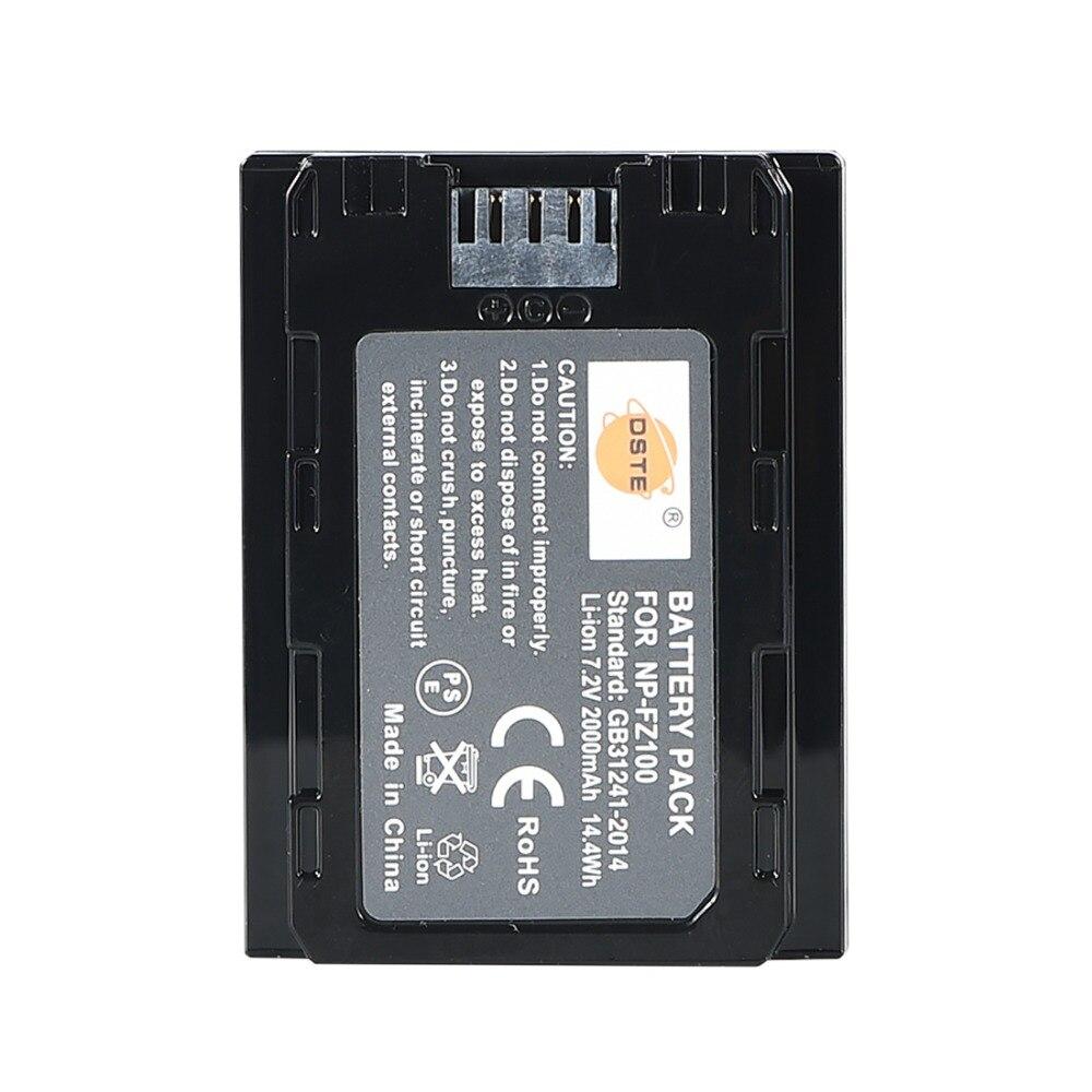 Dste NP-FZ100 batería para Sony A7R3 A9 A7RM3 Cámara