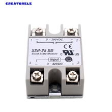 hot New Plastic Metal Solid State Relay SSR DC-DC 25A 3-32VDC/5-60VDC