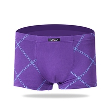 Plus Size New Mens Modal Sexy U Convex Pouch Boxers Underwear Comfortable Breathable Male Printed Underpants High Quality