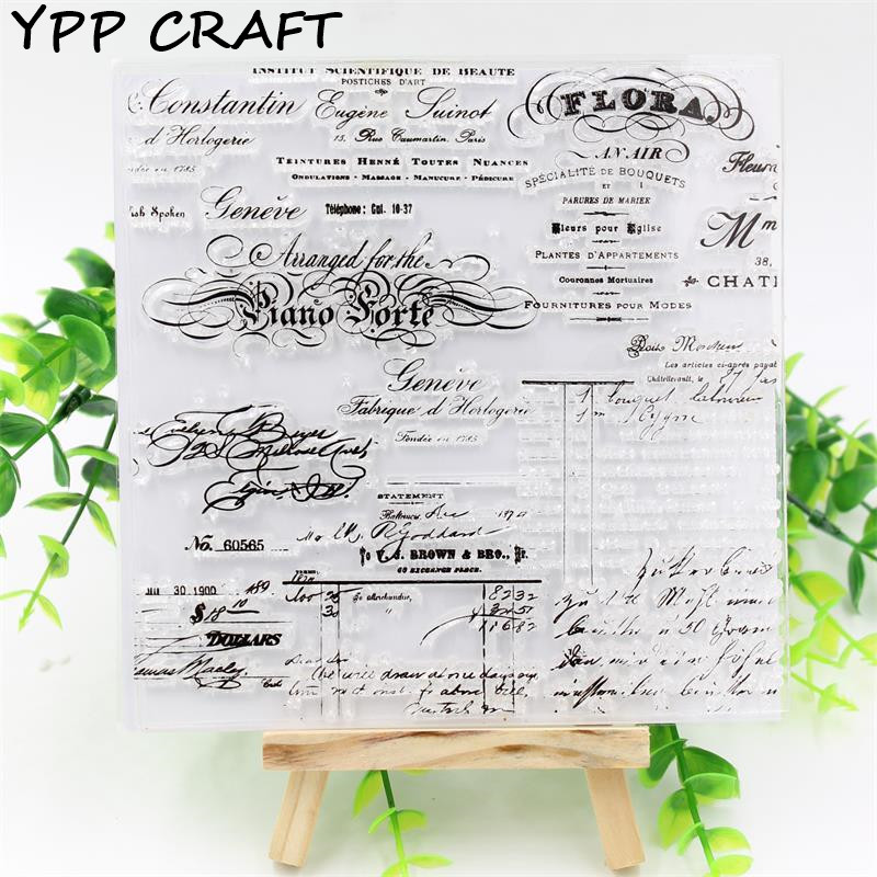 YPP CRAFT Letters Transparent Clear Silicone Stamps for DIY Scrapbooking/Card Making/Kids Christmas Fun Decoration Supplies
