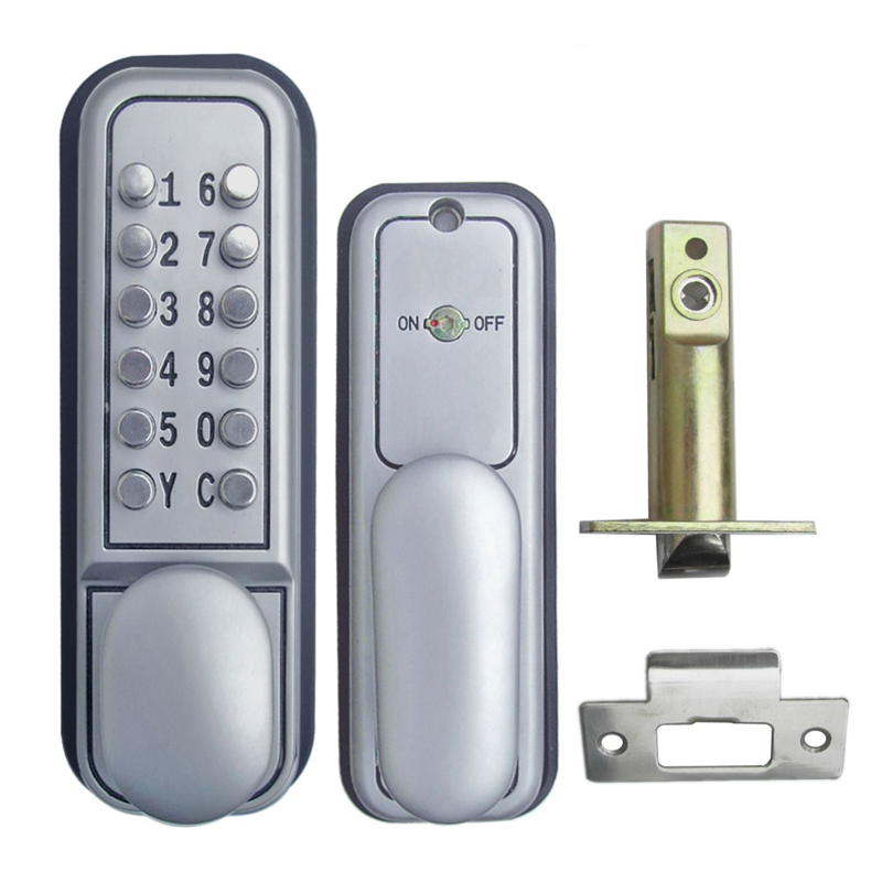 L&S Mechanical Code Lock Digital Machinery Keypad Password Door lock Stainless Steel Single Latch Zinc Alloy Silver L17007  цена и фото