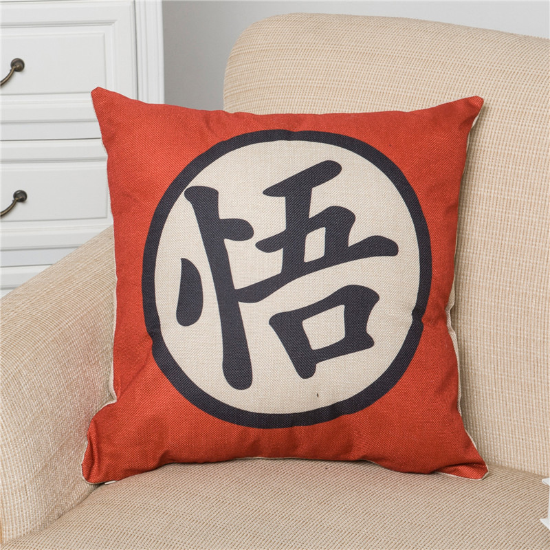 Dragon Ball Cartoon Printing Pillow Case Cotton Linen Pillowcase Hand Painted Printed Pillow Covers Home Pillow Cases 45x45 cm