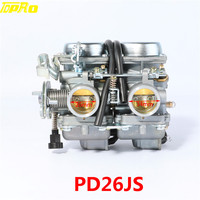 TDPRO PD26JS 26mm 34mm Carburetor For Motorcycle Carburador Koso Mikuni With Power Jet For ATV Quad Buggy Scooter Parts