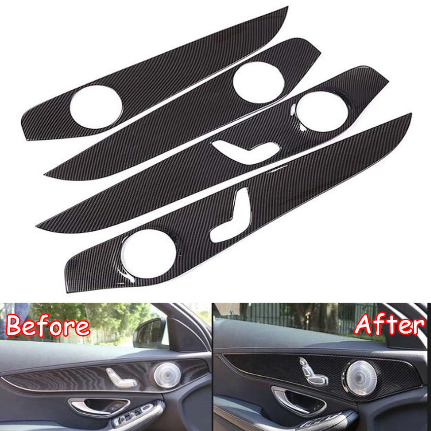 Fit For Mercedes Benz GLC / C Class 2016 2017 2018 Car Interior Door Panel Decoration Stickers Cover Styling Trim Accessories