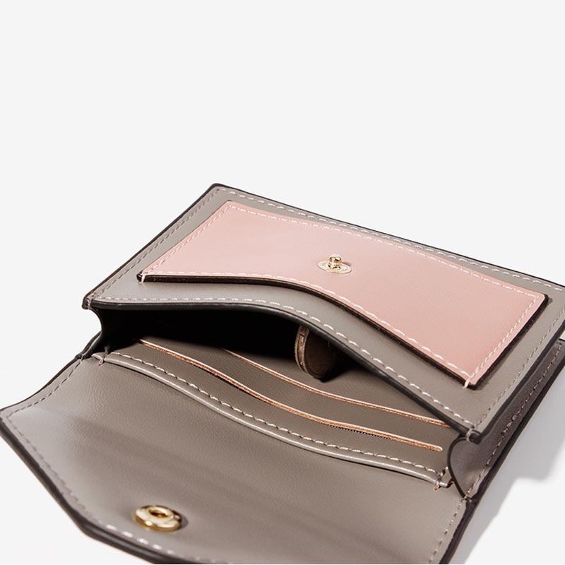 Short Wallet ID Card Women Purse Zipper Purse Card holder Fashion Panelled Wallets Trendy Coin Purse Card Holder Leather in Wallets from Luggage Bags