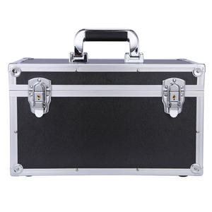 light weight Tool Carrying Case Hair Cutting Shears Clipper Scissors Organizer Storage Aluminum Frame Tool Box