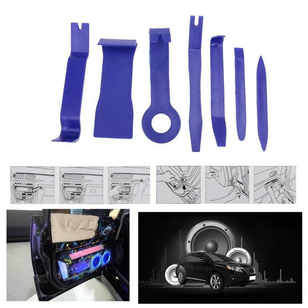 7Pcs/Set Car Audio Repair Tools Auto Radio Door Clip Panel Trim Removal Installer Tool Car Panel Disassembly Repair Tools