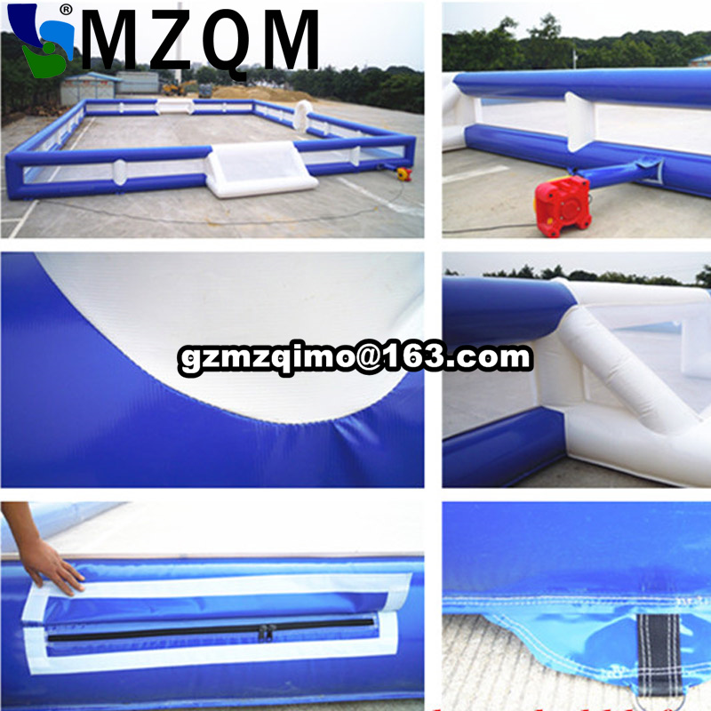 Free door shipping inflatable football field, cheap inflatable soccer field, inflatable bumper soccer court sport game for sale