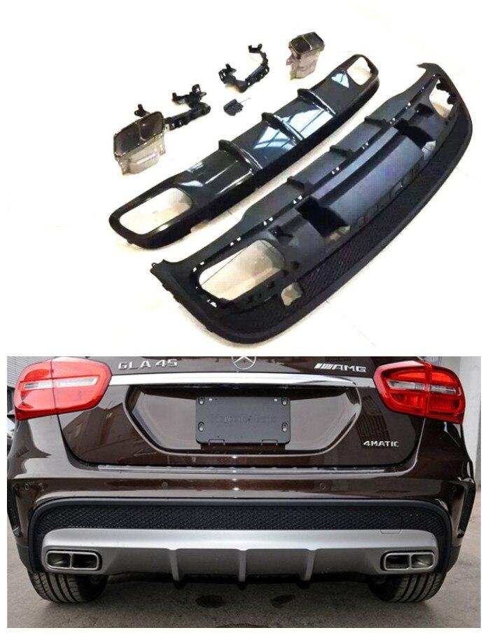 Car Rear Lip Spoiler For Mercedes-Benz GLA Class X156 GLA45 GLA200 GLA220 250 GLA260 2014-2017 Bumper Diffuser Auto Accessories