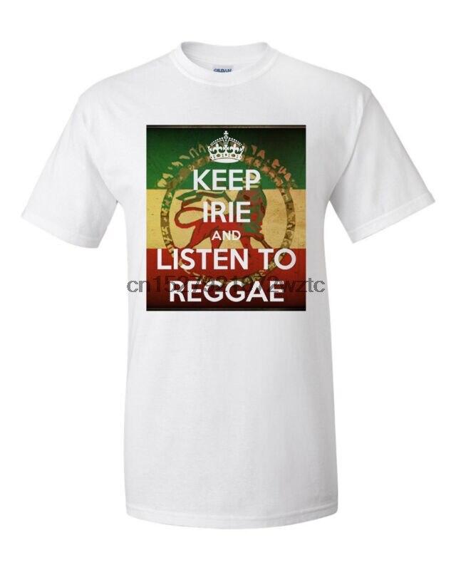Realistic Men's Keep It Irie & Listen To Reggae T-shirt Ja Cure Bob Marley Sizla Dancehall