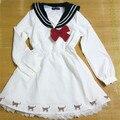 free shipping Lolita Sweet Dress Sailor Moon Bow Costume Girls Daily Wear Party Uniform Dresse Japanese Dresses