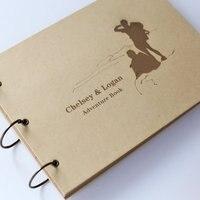 Custom Kraft Adventure book/ personalized Photo Album/ ring binder scrapbook/ personalized gift