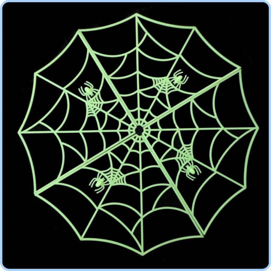 Halloween spider web decoration - 1pc Halloween Spider Web Luminous Pvc Home Bar Decoration Sticker Halloween Accessory Dropshipping Halloween Supplies Hot