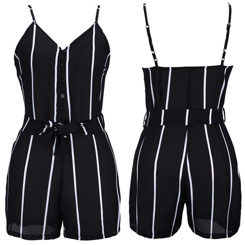 HTB1 3E2RXXXXXapXXXXq6xXFXXXu - Sexy Black and White Striped Playsuit Summer PTC 147