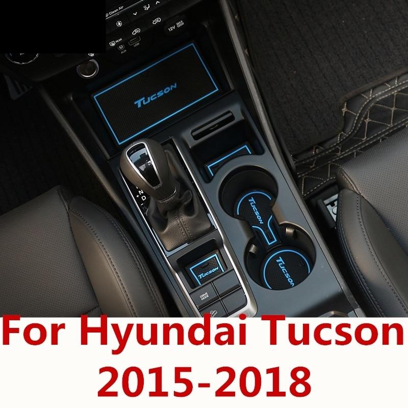 Color : Red DWhui Car Door Slot Pad Anti-dust Interior Cup Mats emulsion car interior Non-Slip Mats For MG HS 16 PCS//Set,Dustproof and waterproof