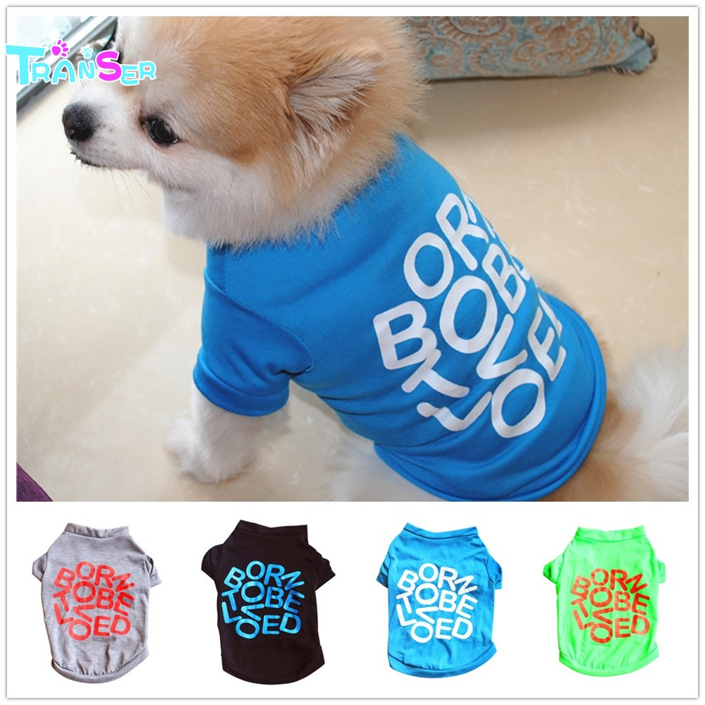 Transer pet tshirt all seasons cute vest for dogs solid for Custom pet t shirts