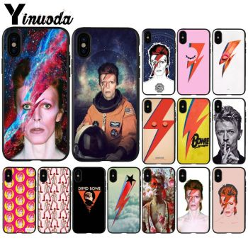 Yinuoda David Bowie Pattern TPU Soft Phone Accessories Phone Case for Apple iPhone 8 7 6 6S Plus X XS MAX 5 5S SE XR Cellphones image