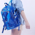 Transparent Backpacks 2017 New Summer Waterproof Beach Travel Backpacks Couple Fluorescent Jelly Bags Men and Women's Backpack