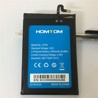 For HOMTOM HT50 Battery 5500mAh Mobile Phone Battery High Quality Long Standby Time Test Normal Use