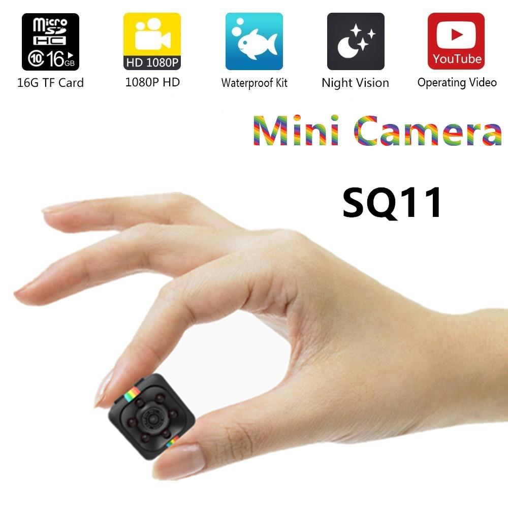 SQ11 HD mini cámara pequeña cámara cam 1080 p ancho ángulo impermeable MINI videocámara DVR video deporte micro cámaras SQ 11
