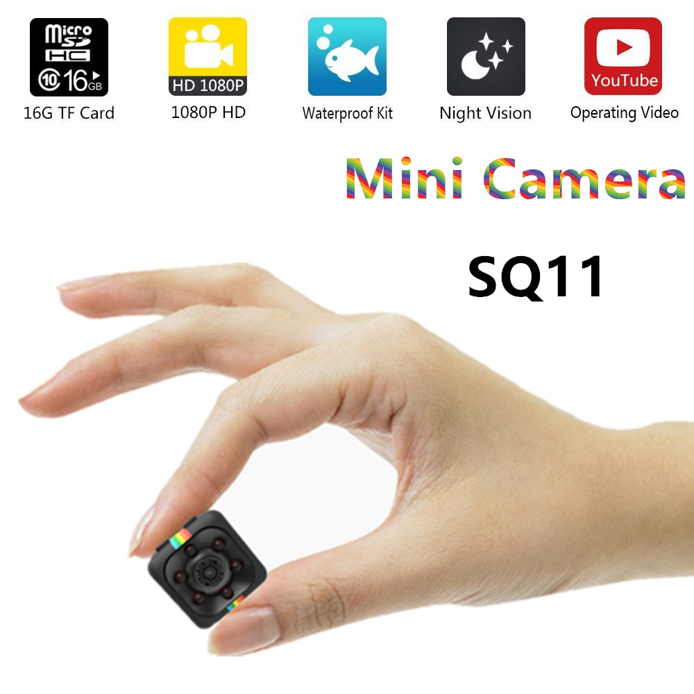 SQ11 HD mini caméra sq12 petite caméra cam 1080 P Large Angle Étanche MINI Caméscope DVR vidéo Sport micro Caméscopes SQ 11