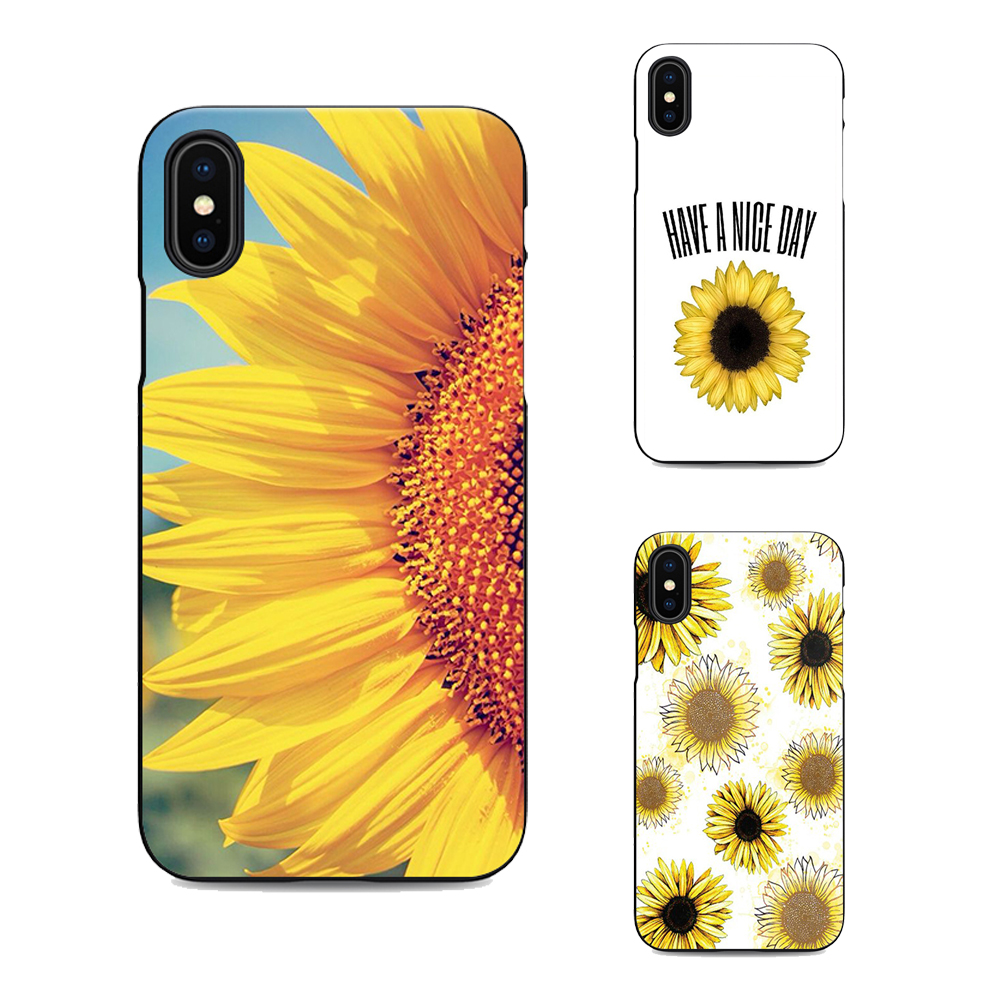 sunflower soft Silicone black cover phone case for iPhone XR XS MAX 6 7 8 plus 5 5s 6s se for