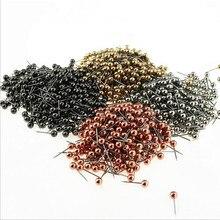 400pcs/lot Round Pearl Head Sewing Needles Stitch Pins Wedding Bride Dressmaking Patchwork Accessories Craft Decor DIY