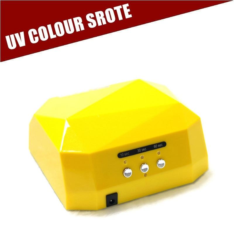 Nail Dryer&FREE SHIPPING 36W Nail Dryer Professional Diamond Shaped CCFL and LED UV Nail Lamp With Sensor Dimond Diamant
