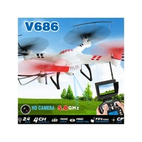 WLTOYS V686G 2 4G 4CH 6 Axis Gyro RC Quadcopter With HD Camera 5 8G FPV