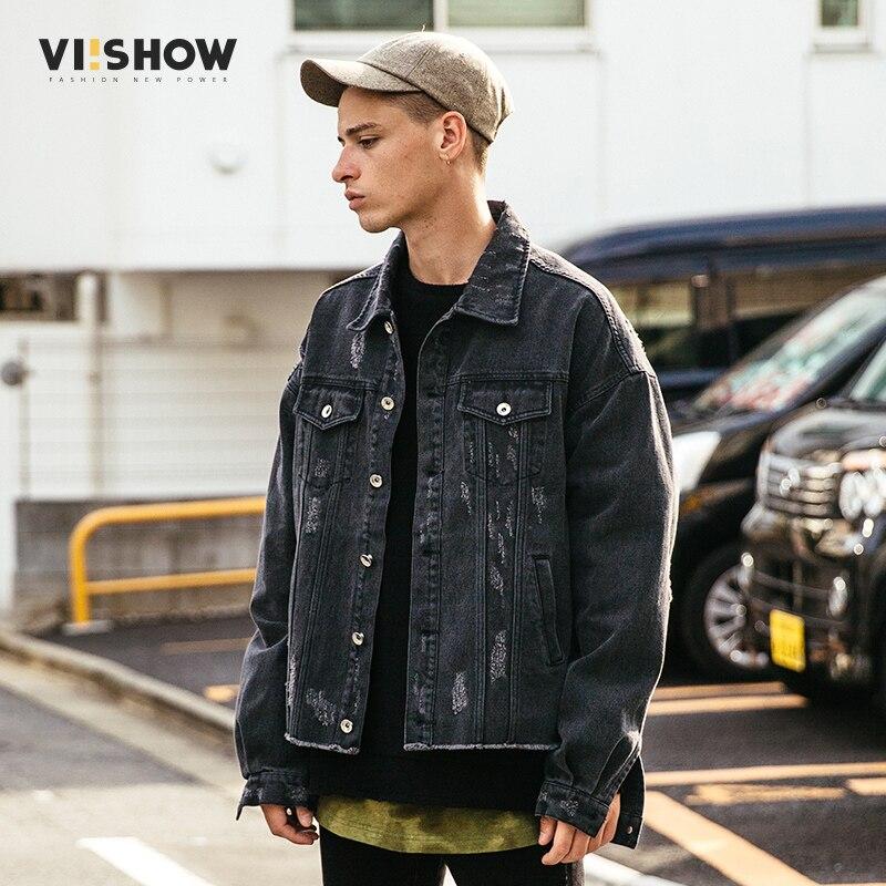 viishow 2017 new autumn fashion denim jacket men casual