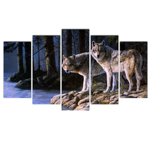 Cairnsi 5 Piece HD canvas Wall Art Painting Wall Art Wolf Canvas Prints for Modern Living Room Bedroom Decoration Free Shipping