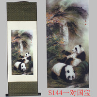 Panda pattern silk painting decoration scroll painting and the new special gift wholesale Auspicious treasure #3784
