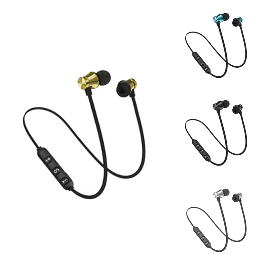 XT11 Sports Running Bluetooth Wireless Earphone Active Noise Cancelling Headset for phones and music bass Bluetooth Headset magnetic attraction bluetooth earphone headset waterproof sports 4.2