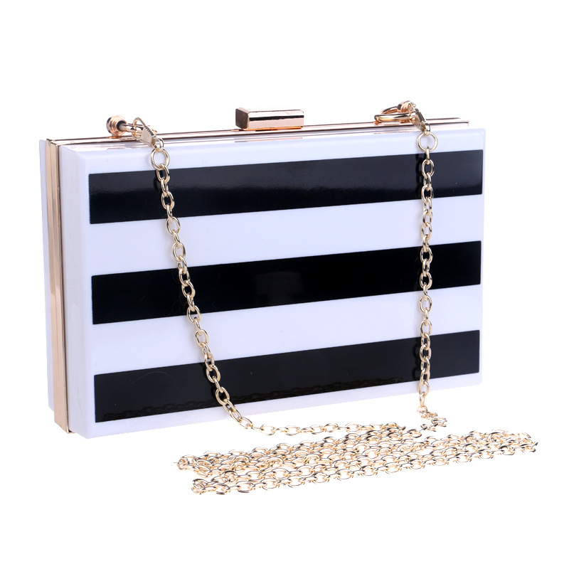 Popular Black and White Striped Purse-Buy Cheap Black and White