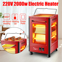 200V 2000W Home Heater Table Portable Electric Heat Blower Indoor Winter Electric Heater Room Heating