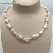 Nowy rodzaj naszyjnik mały barokowy nieregularny kwadratowy styl perły naturalne słodkowodne hodowlane perły z 3mm koraliki specjalna biżuteria