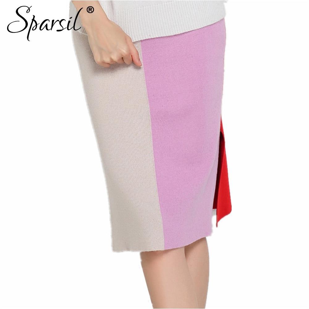 sparsil summer style blend pencil skirt