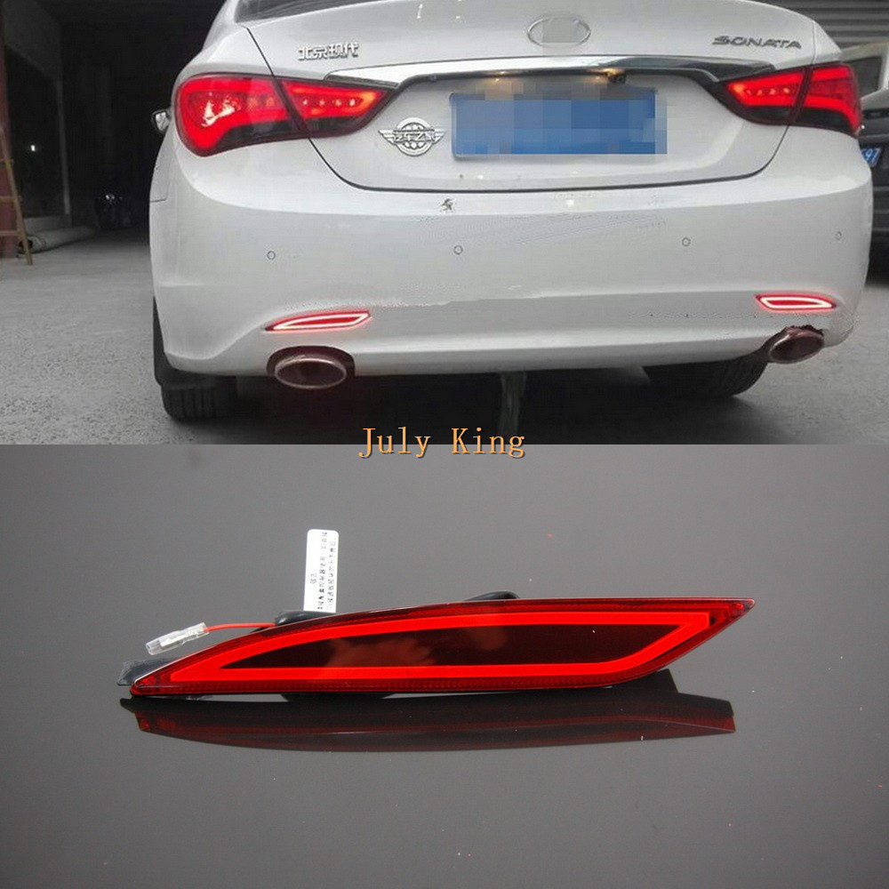 купить Varthion LED Light Guide Brake Lights Case for Hyundai Sonata 8th 2011~2014, Brake + Turn Signal + Night Running Warning Lights дешево