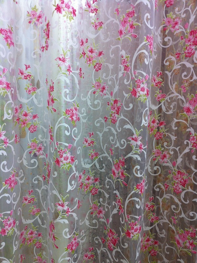 CS 28 Цветочные Sheer Шторы ткань окна, двери Панель Шторы ткань перегородкой вуаль драпировать шарф декоративные Шторы ткани